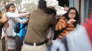 Delhi Police brutally beats students protesting for Rohith, watch video