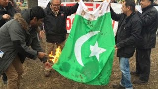 Balochistan leaders burn Pakistan flag in Canada