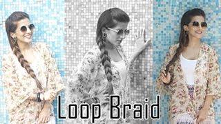 Easy Faux Loop Braid Hairstyle/Loop Braid Hair Tutorial