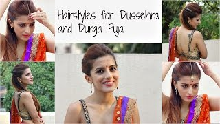 Hairstyles for Dussehra/ Durga Puja/ Navratri