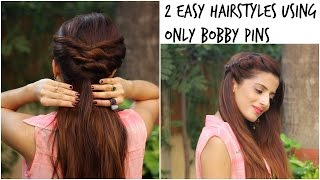 2 Quick and Easy Twist Hairstyles | 1 Minute Heatless Hairstyles