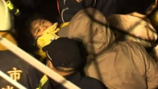 Raw: Search for Survivors in Deadly Taiwan Quake