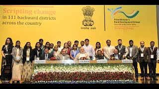 PM Modi at an interaction with Prime Minister's Rural Development Fellows