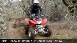 Honda TRX250X ATV Comparison Review