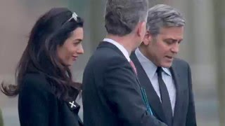 George and Amal Clooney meet with German Chancellor to Discuss Refugee Crisis