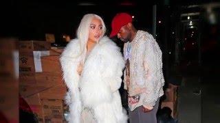 Kim Kardashian: Ice Blonde Hair and Stylish Date with Kanye West