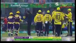 Ahmed Shehzad Fight With Wahab Riaz in Quetta Gladiators vs Peshawar Zalmi Match PSL T20 2016