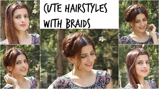 Cute And Easy hairstyles With Braids/Hairstyles For Valentines Day Part 2