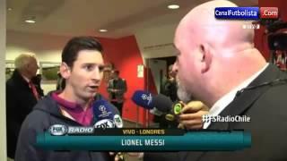 Entrevista Messi Arsenal vs Barcelona 0-2 Champions League 2016