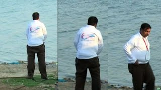 ADM caught on cam urinating in Triveni