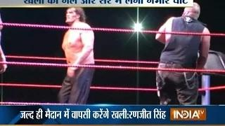 Indian Wrestler 'The Great Khali' Gets Injured into the Ring | WWE Wrestling