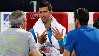 Novak Djokovic out of Dubai Tennis championships with eye infection