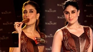 Kareena Kapoor's $exy Ice Cream Licking Act At Magnum Ice Cream Launch