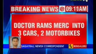 Bengaluru Accident: Doctor rams Mercedes into three vehicles