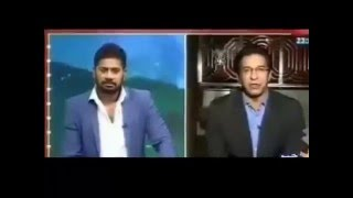 Wasim Akram heckled on live indian TV show 2016/ Unknown people stop wasim akram during interview