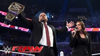 Triple H reminds Roman Reigns why he's a 14-time WWE World Heavyweight Champion: Raw, March 28, 2016