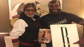 Chris Gayle Meets Amitabh Bachchan Ahead of India vs West Indies World T20 Semis