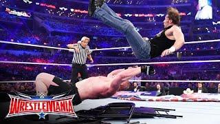 Dean Ambrose vs. Brock Lesnar - No Holds Barred Street Fight: WrestleMania 32
