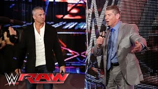 Mr. McMahon puts Shane McMahon in charge of Raw for the night: Raw, April 4, 2016