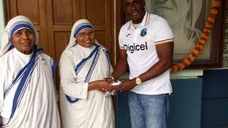 West Indies 'Champions' Make Donation to Mother Teresa's Charity