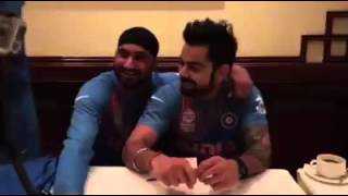 Vriat Kholi and Harbhajan Singh in punjabi mood, Befor T20 World Cup 2016