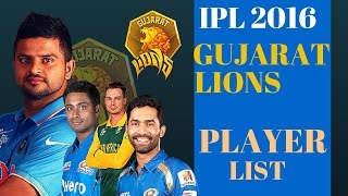 IPL 2016: Gujarat Lions Player List - IPL 2016 New Team Player List