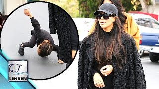 North West FALLS Down, Kim Kardashian BUSY Texting