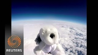 British school sends toy dog into space