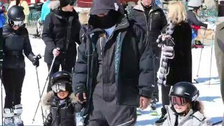 North West Learns to Ski With Kim Kardashian & Kanye West