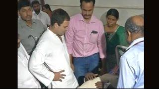 Rahul Gandhi visits injured in Kerala's Kollam, where temple fire left 106 dead: Kollam Temple