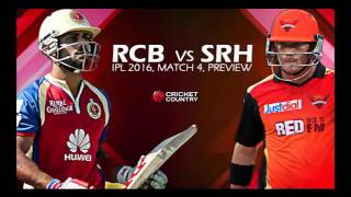 IPL 2016  Match 4, RCB vs SRH, Behind the scenes ,