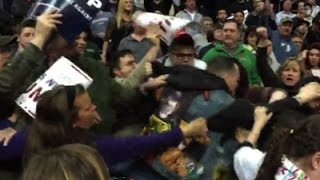 Men Fight at Trump Albany Rally