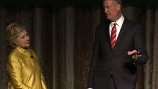 Clinton, de Blasio Perform Controversial Skit