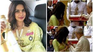 Priyanka Chopra receives Padma honour from the President