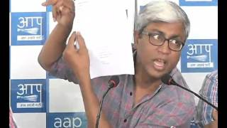 AAP Leader Addresses Media on Imp Political Leaders/union Minister links in Panama Papers