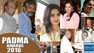 Rajinikanth, Ramoji Rao, Rajamouli, Sania, Priyanka Chopra honoured with Padma awards 2016