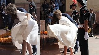 Kate Middleton Has Marilyn Monroe Moment At India Gate
