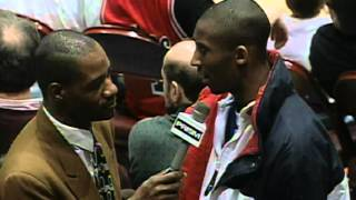 NBA Vault: Highschool Kobe Bryant Gets Interviewed At Sixers Game