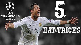 Cristiano Ronaldo - All 5 Record Hat-Tricks in Champions League 2016