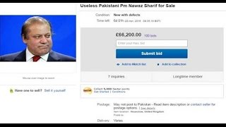 Pak PM Nawaz Sharif on sale on ebay