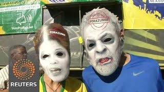 Supporters, opponents of Rousseff rally in Brazil