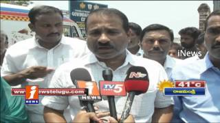 TDP Venkatram Reddy Cousins Protest over Obulam Hospital - Tirupati - iNews