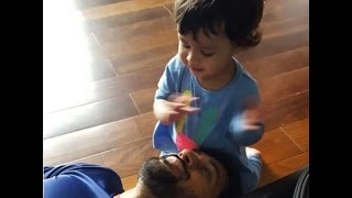 Captain cool Dhoni is a crazy fan of his little Ziva