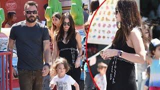 Pregnant Megan Fox And Ex Brian Austin Green Play Happy Families At The Market
