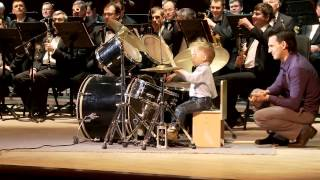 Lyonya Shilovsky - 3 Years Old Russian Drummer Leads Orchestra of Adult Musicians