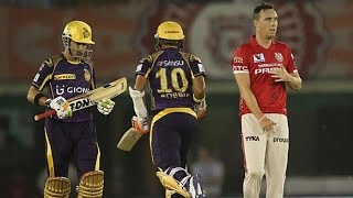 IPL 2016 - Kings XI Punjab vs Kolkata Knight Riders - Robin Uthappa & Gautam Gambhir Help KKR To Win