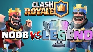 Clash Royale - NOOB BEATS A LEGEND - Intense Royale Battles