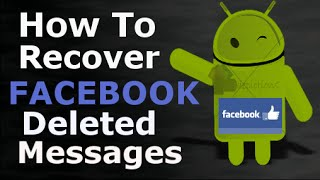 {Hindi} How To Recover   Deleted Messages Of Facebook