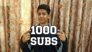 Thanks Everyone For 1K Subs !