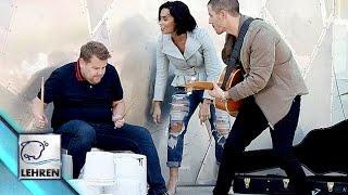 Demi Lovato, Nick Jonas & James Corden's Impromptu Street Performance